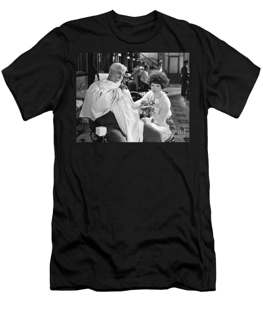 -barbers & Beatuy Salons- Men's T-Shirt (Athletic Fit) featuring the photograph Silent Still: Beauty Salon by Granger