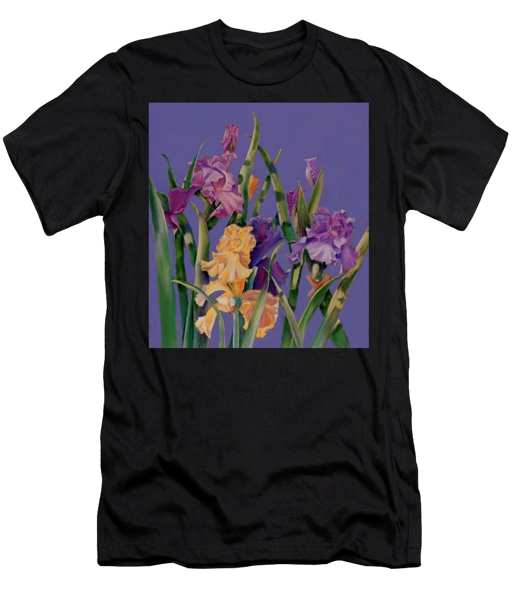 Fine Art Men's T-Shirt (Athletic Fit) featuring the pastel Spring Recital by Ann Peck