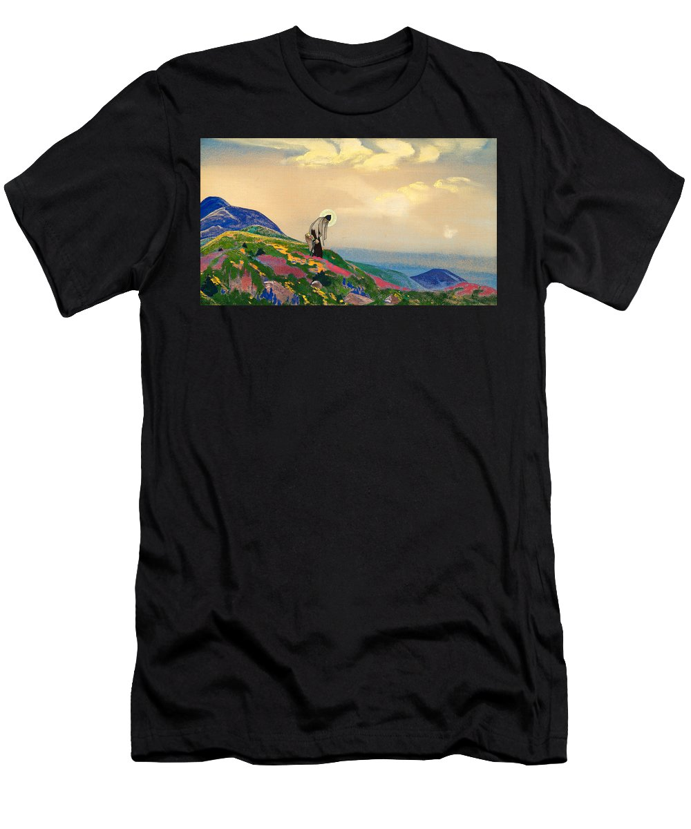 Europe Men's T-Shirt (Athletic Fit) featuring the painting St. Panteleimon The Healer by Nicholas Roerich