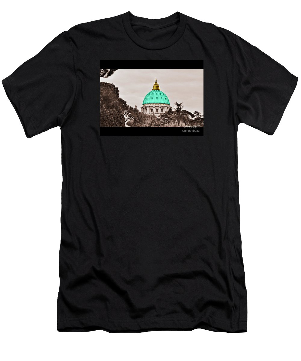 Saint T-Shirt featuring the photograph St. Peters Basilica by Eric Liller