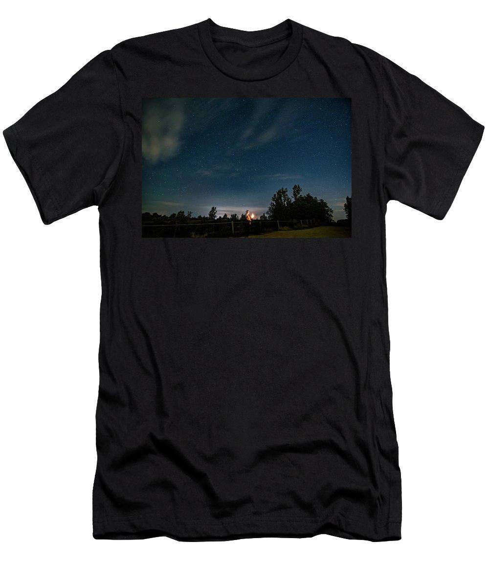 Steve Harrington Men's T-Shirt (Athletic Fit) featuring the photograph Star Gazer by Steve Harrington