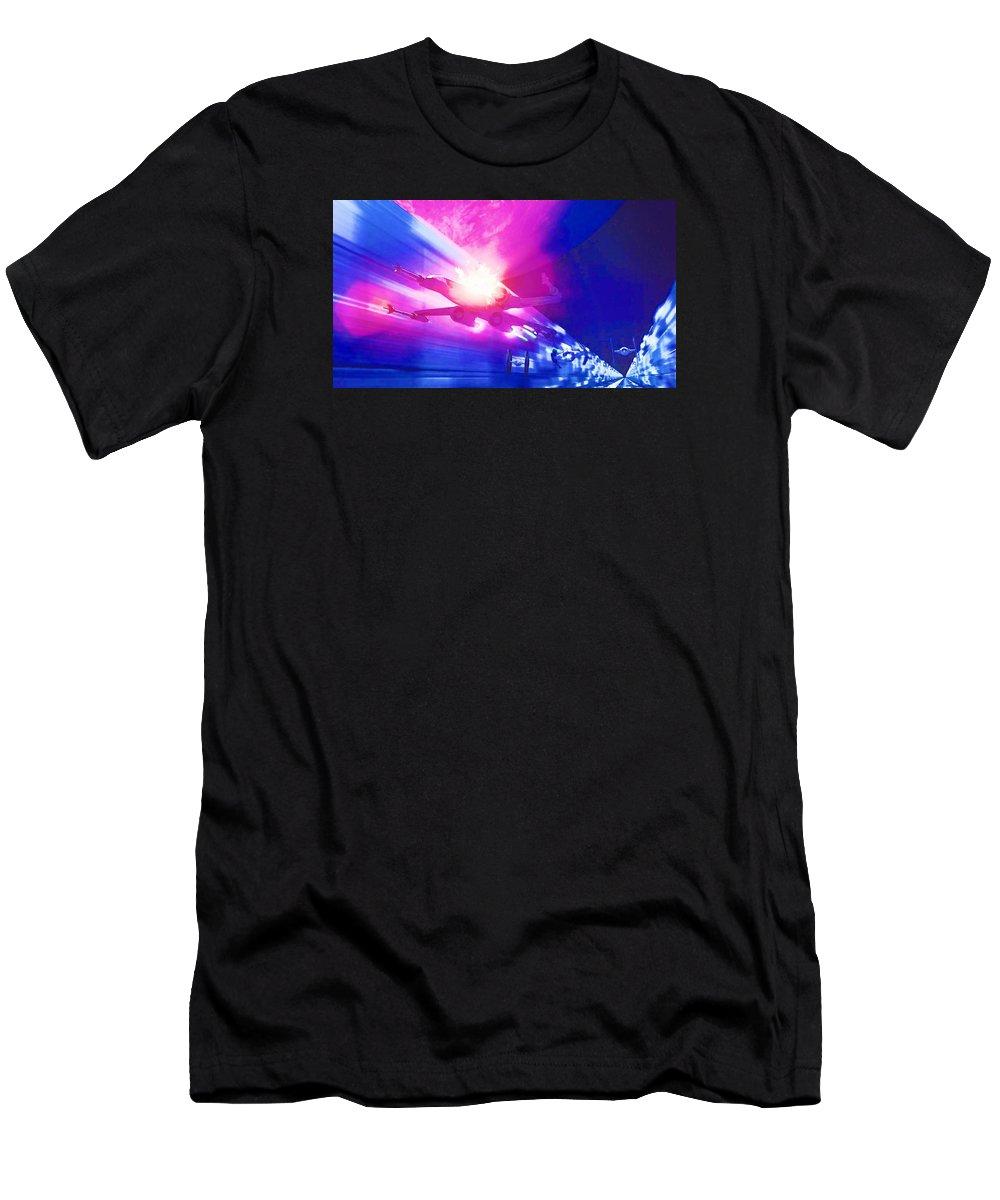 Anakin Star Wars T-Shirt featuring the digital art Star Wars Episode 1 Art by Larry Jones