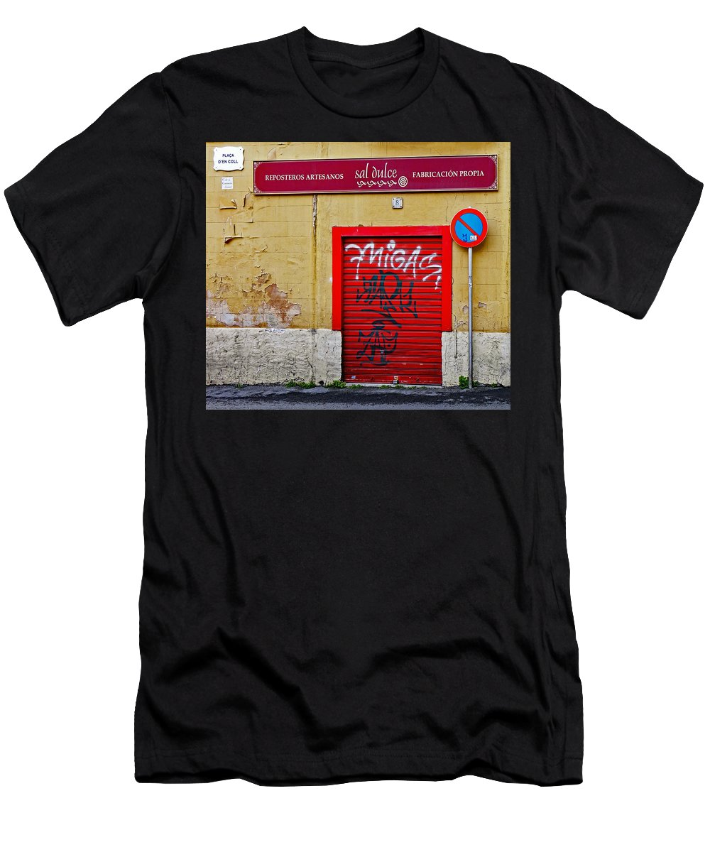 Street Art Men's T-Shirt (Athletic Fit) featuring the photograph Street Art In Palma Majorca Spain by Richard Rosenshein