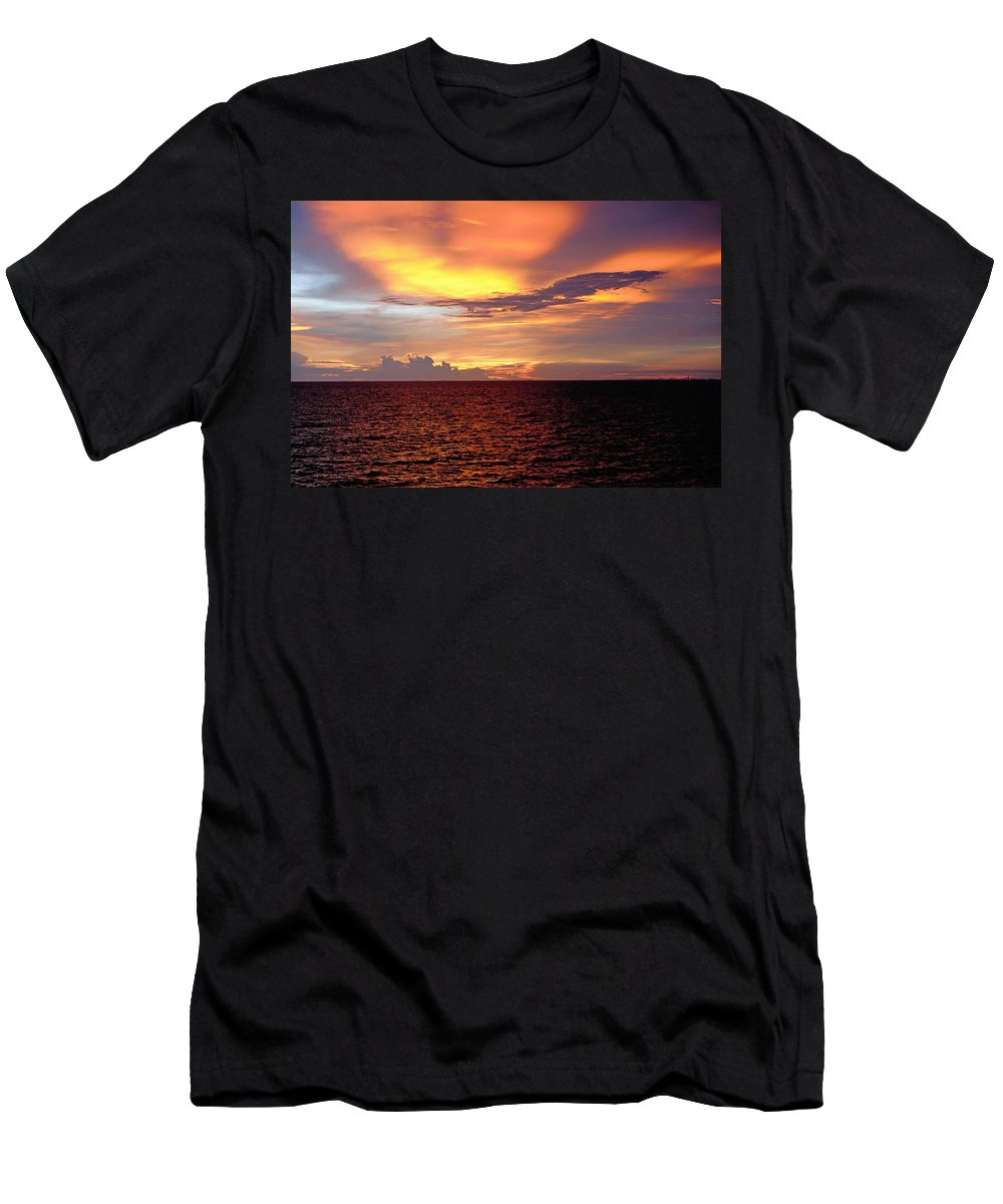Sunset Men's T-Shirt (Athletic Fit) featuring the photograph Sunset by Michael Brown