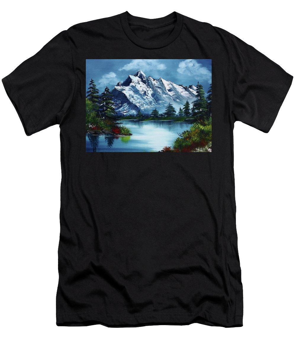 Men's T-Shirt (Athletic Fit) featuring the painting Take A Breath by Barbara Teller