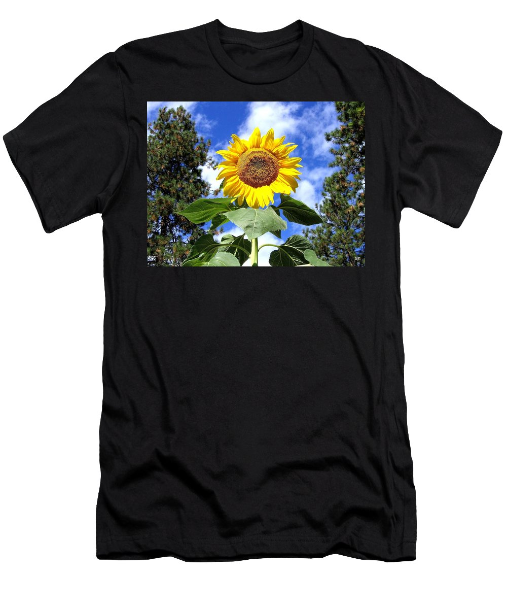 Sunflower Men's T-Shirt (Athletic Fit) featuring the photograph Tall And Sunny by Will Borden