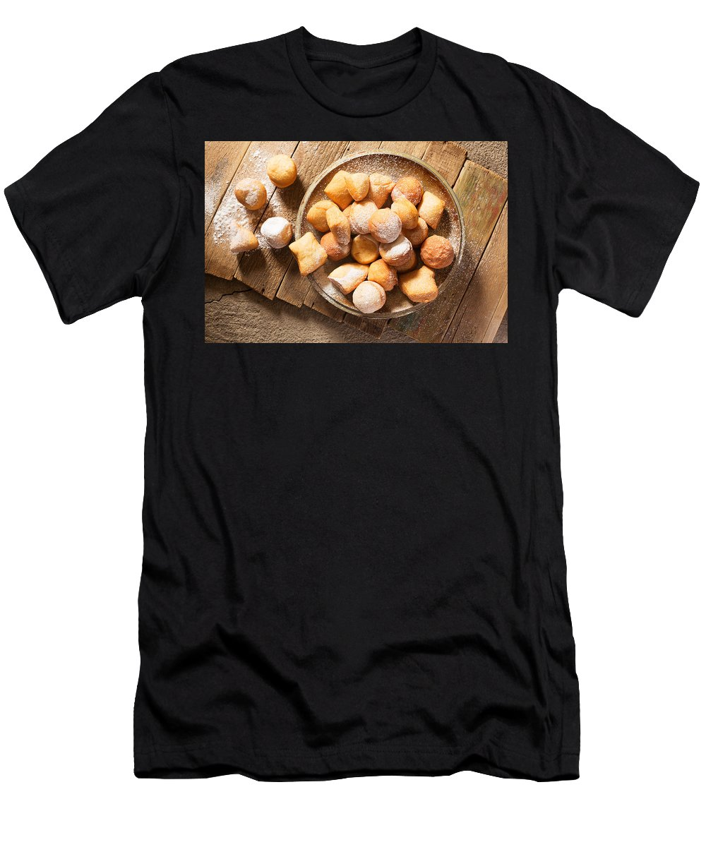 Tasty Donuts From Grandmother By Vadim Goodwill Men's T-Shirt (Athletic Fit) featuring the photograph Tasty Donuts From Grandmother by Vadim Goodwill
