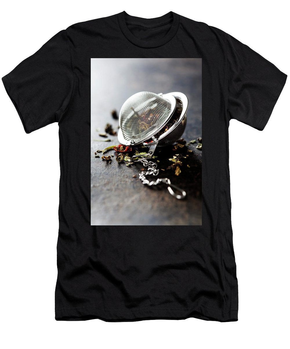 Tea Men's T-Shirt (Athletic Fit) featuring the photograph Tea Time by Natalia Klenova