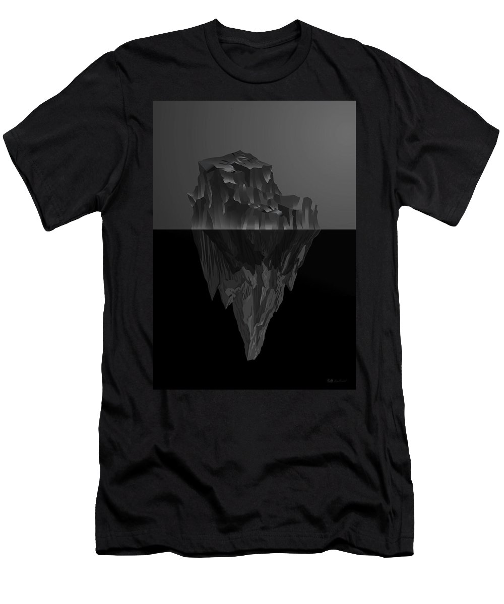 'black On Black' By Serge Averbukh Collection Men's T-Shirt (Athletic Fit) featuring the photograph The Black Iceberg by Serge Averbukh