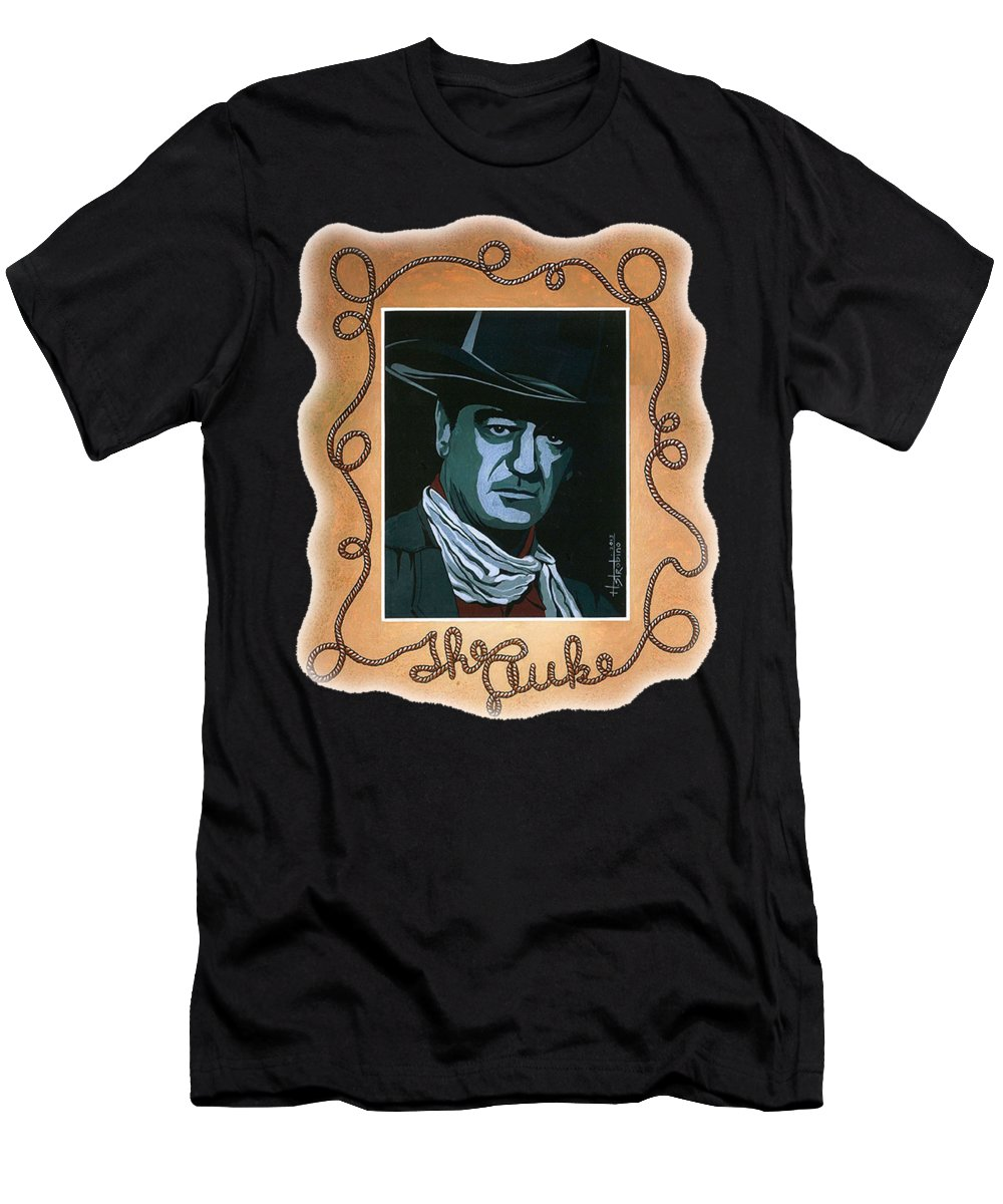 Men's T-Shirt (Athletic Fit) featuring the painting The Duke T-shirt by Herb Strobino