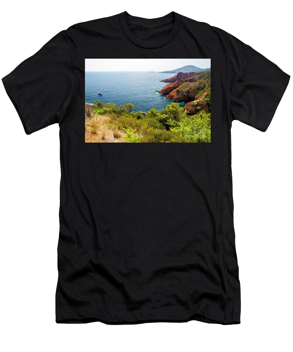 French Riviera Men's T-Shirt (Athletic Fit) featuring the photograph The French Riviera by Ohad Shahar