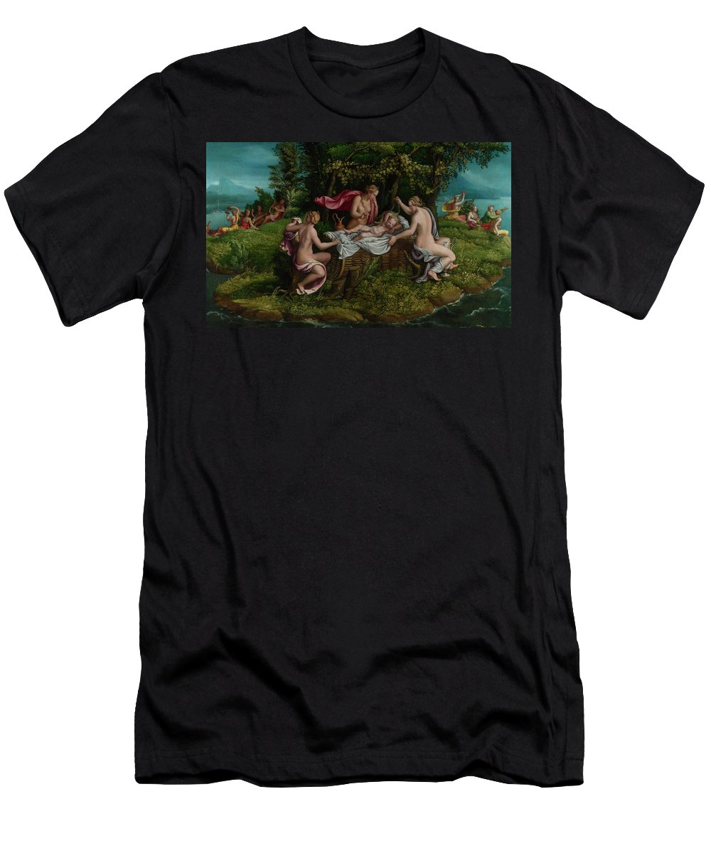 People Men's T-Shirt (Athletic Fit) featuring the painting The Infancy Of Jupiter by Giulio Romano