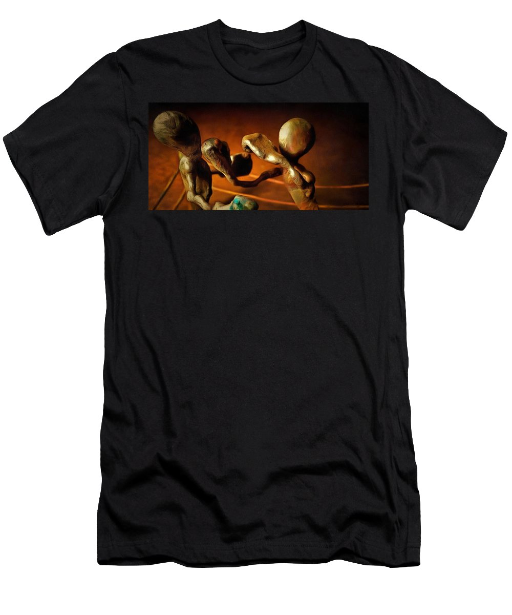 Men's T-Shirt (Athletic Fit) featuring the digital art The Knockout Punch by Mario Carta