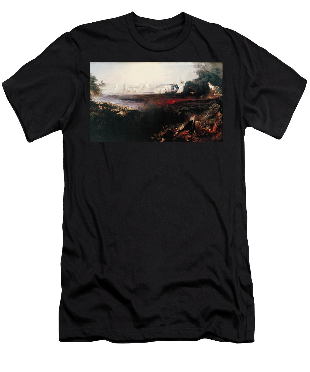 John Martin Men's T-Shirt (Athletic Fit) featuring the painting The Last Judgement by John Martin