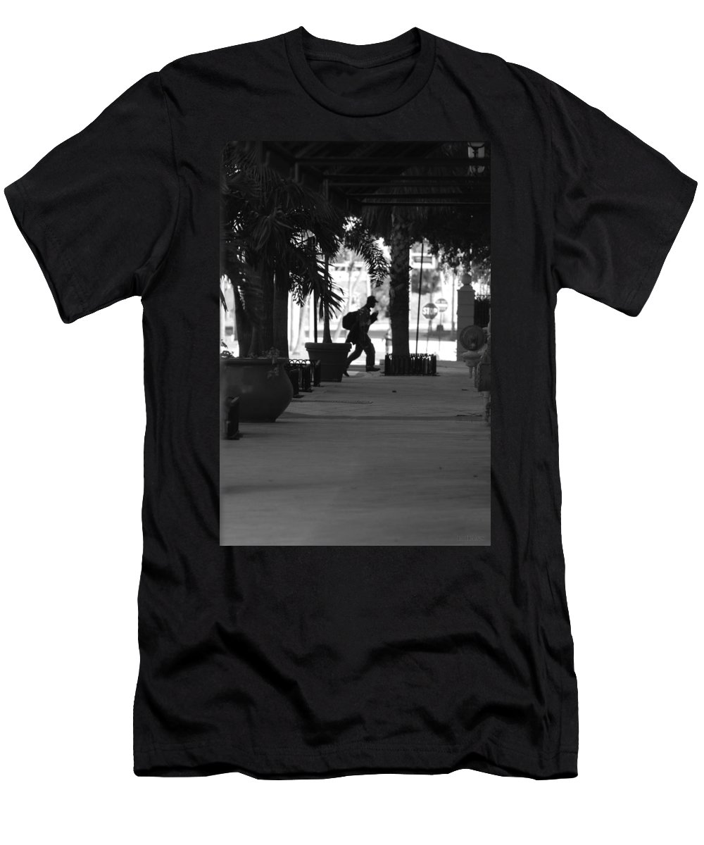 Street Scene Men's T-Shirt (Athletic Fit) featuring the photograph The Post Man by Rob Hans