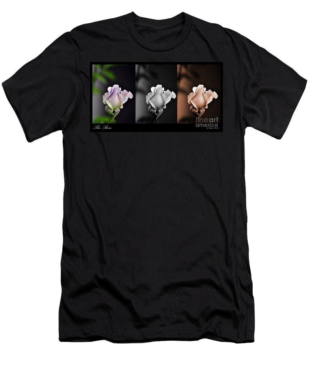 Clay Men's T-Shirt (Athletic Fit) featuring the photograph The Rose by Clayton Bruster