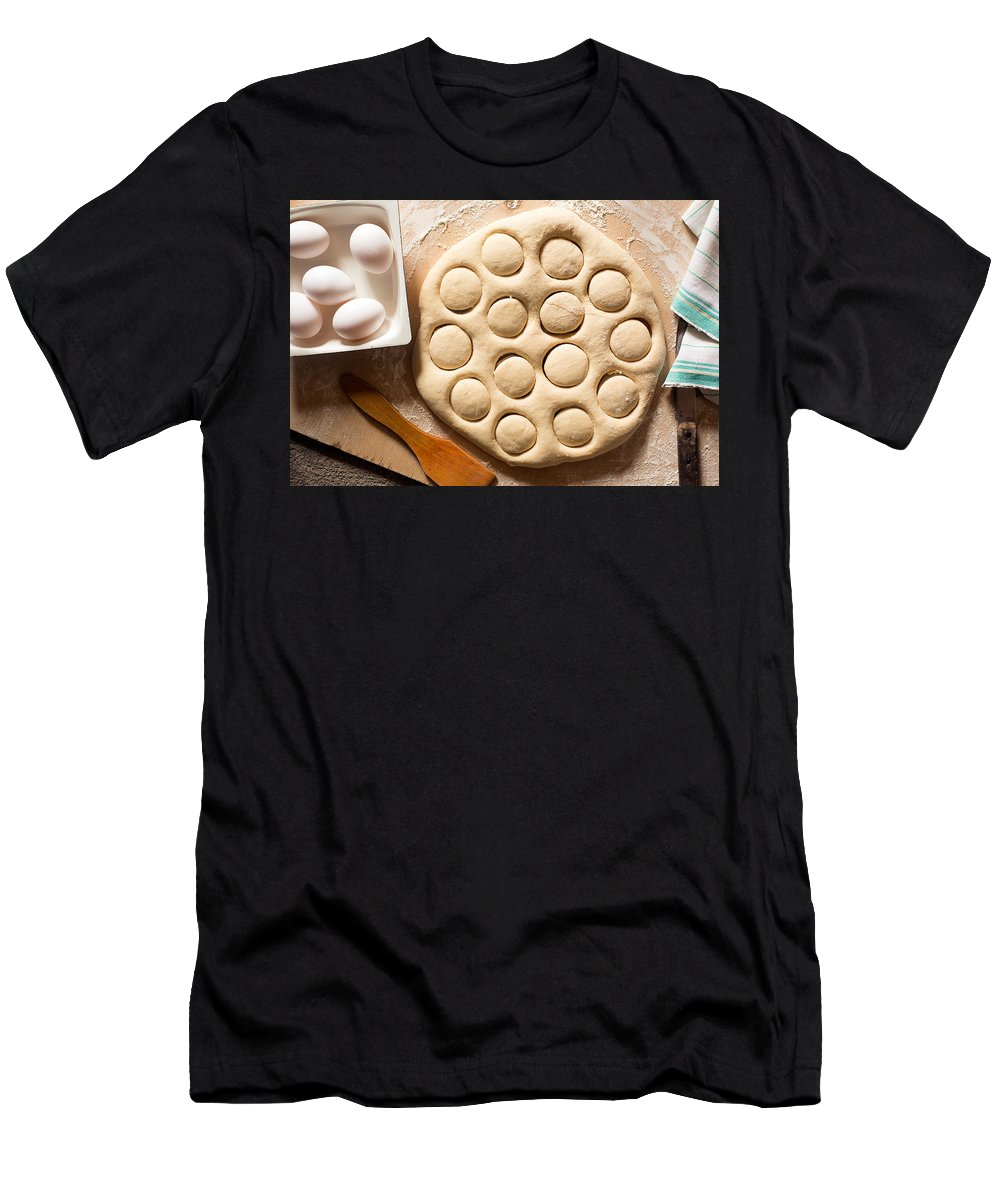 Vadim Goodwill Men's T-Shirt (Athletic Fit) featuring the photograph The Smell Of The Bakery by Vadim Goodwill