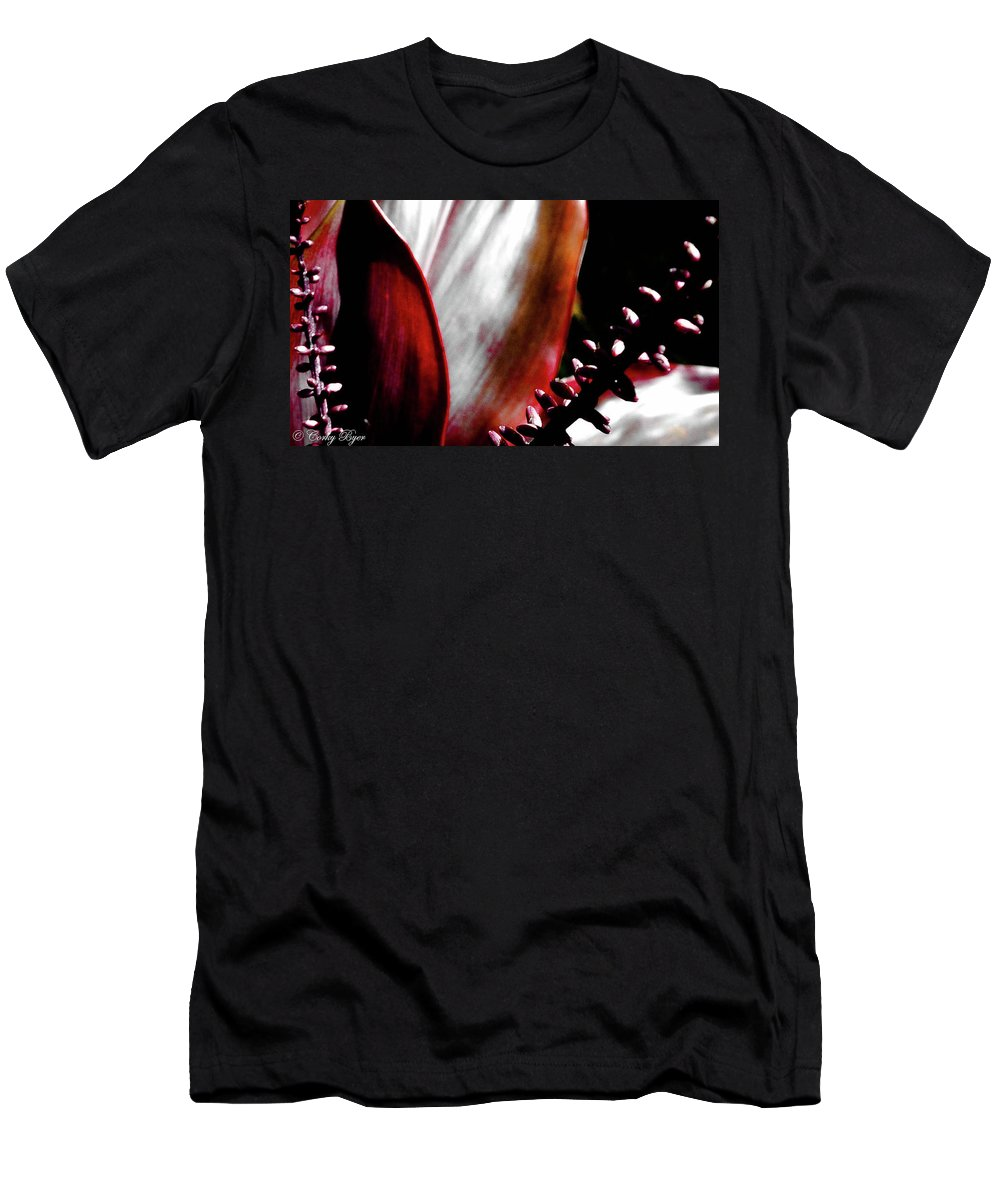Flower Men's T-Shirt (Athletic Fit) featuring the photograph Ti Leaves by Corky Byer