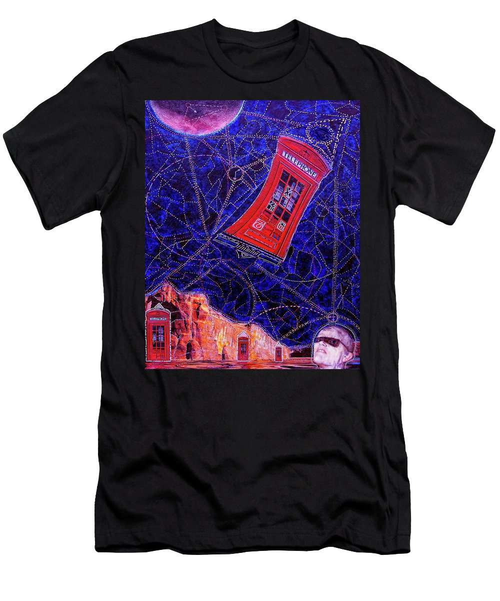 Dr. Who Men's T-Shirt (Athletic Fit) featuring the painting Time Traveler by Dominic Piperata