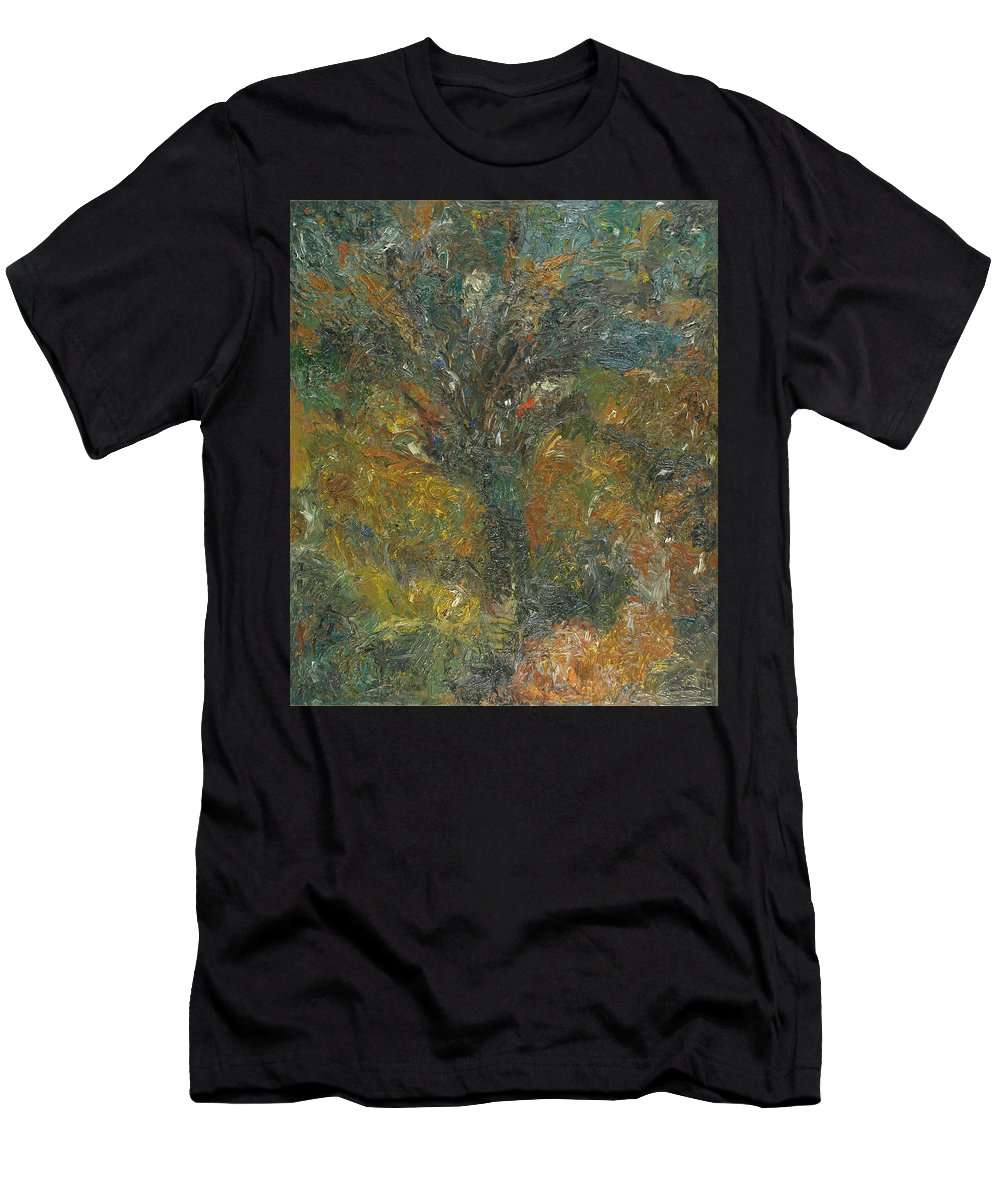Impasto Painting Men's T-Shirt (Athletic Fit) featuring the painting Tree by Robert Nizamov