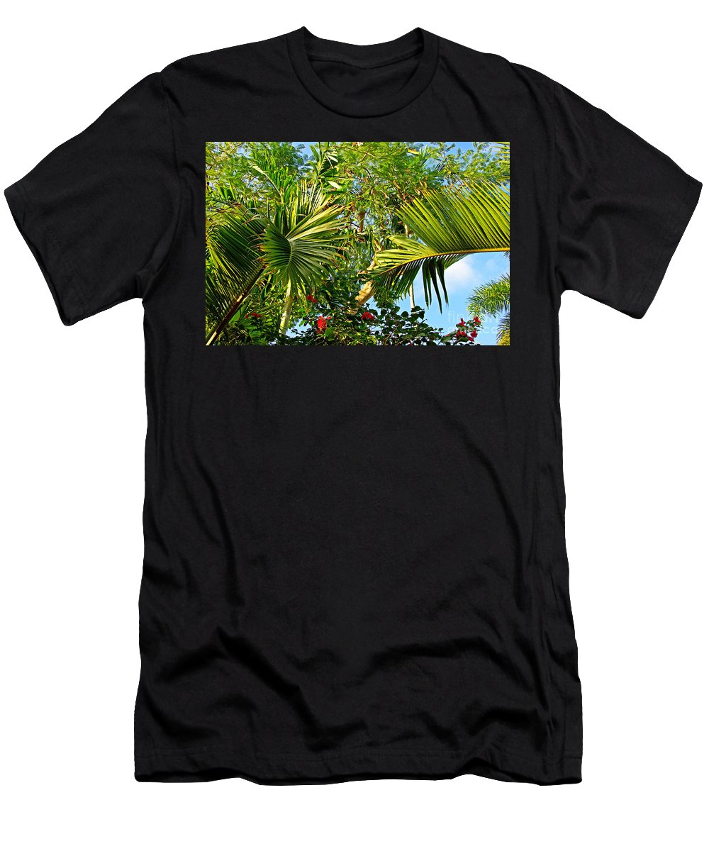 Tropical Men's T-Shirt (Athletic Fit) featuring the photograph Tropical Plants by Zal Latzkovich