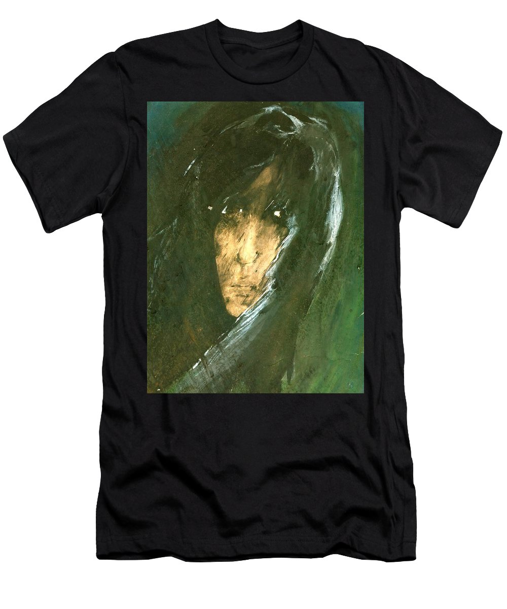 Energy Men's T-Shirt (Athletic Fit) featuring the painting Unknow by Wojtek Kowalski
