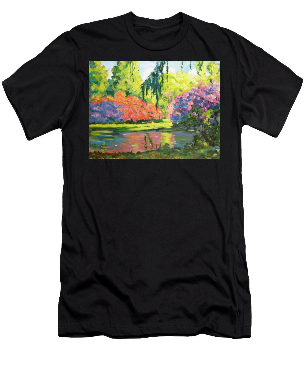 Landscape Men's T-Shirt (Athletic Fit) featuring the painting Untitled by Ingrid Dohm