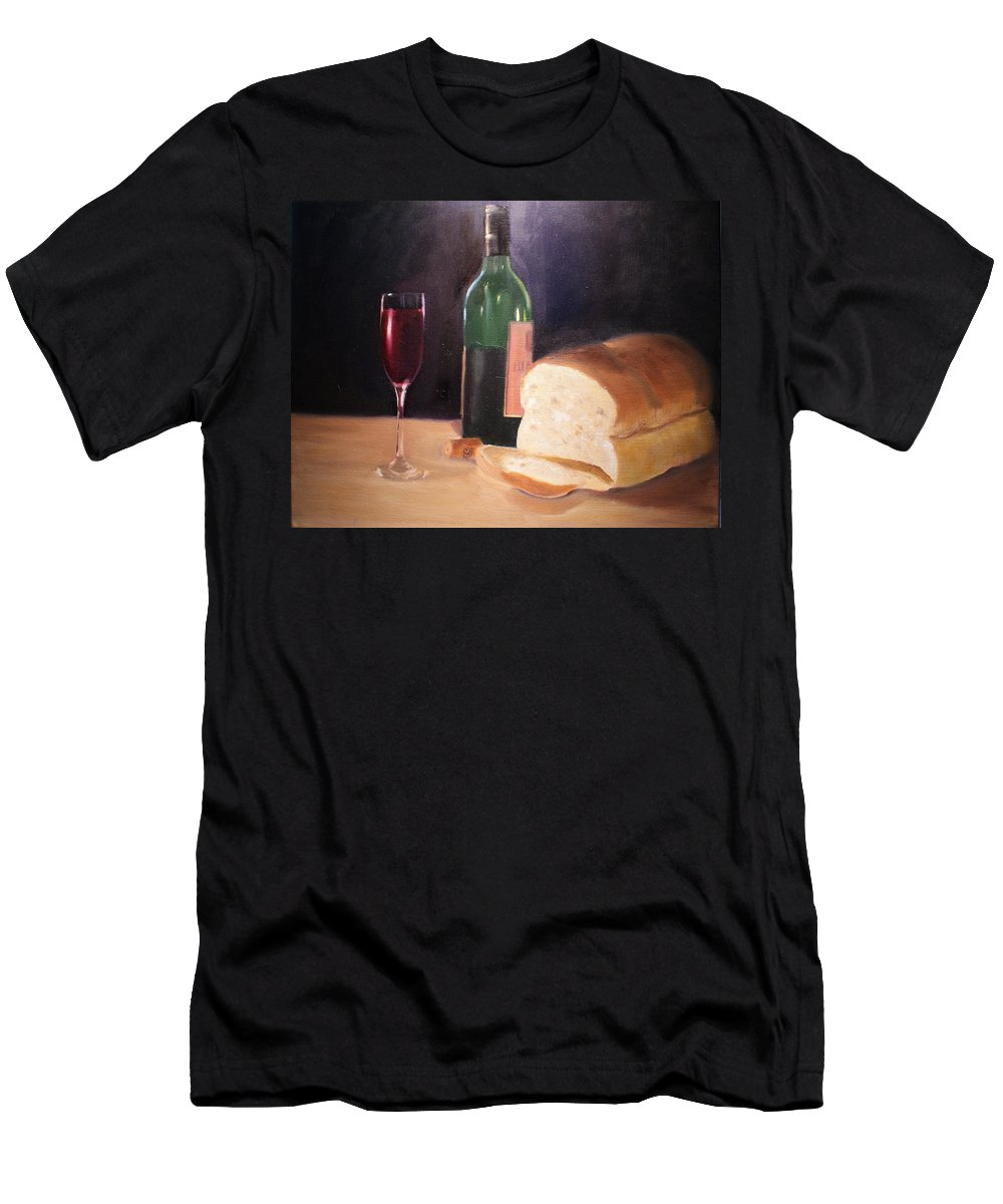Wine Men's T-Shirt (Athletic Fit) featuring the painting Untitled by Toni Berry