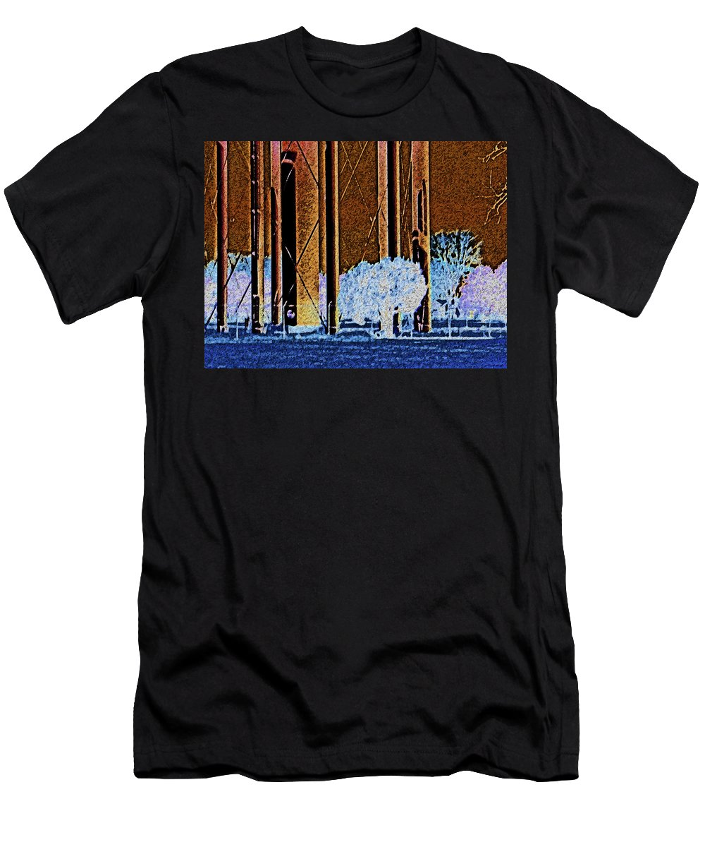 Abstract Men's T-Shirt (Athletic Fit) featuring the photograph Urban Landscape by Lenore Senior