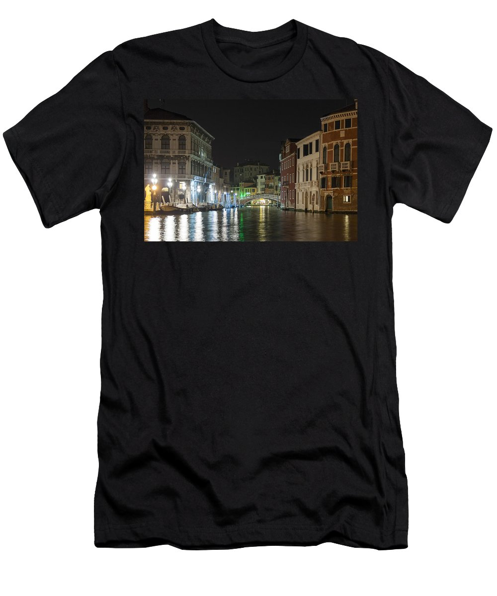 Grand Canal Men's T-Shirt (Athletic Fit) featuring the photograph Romantic Venice by Silvia Bruno