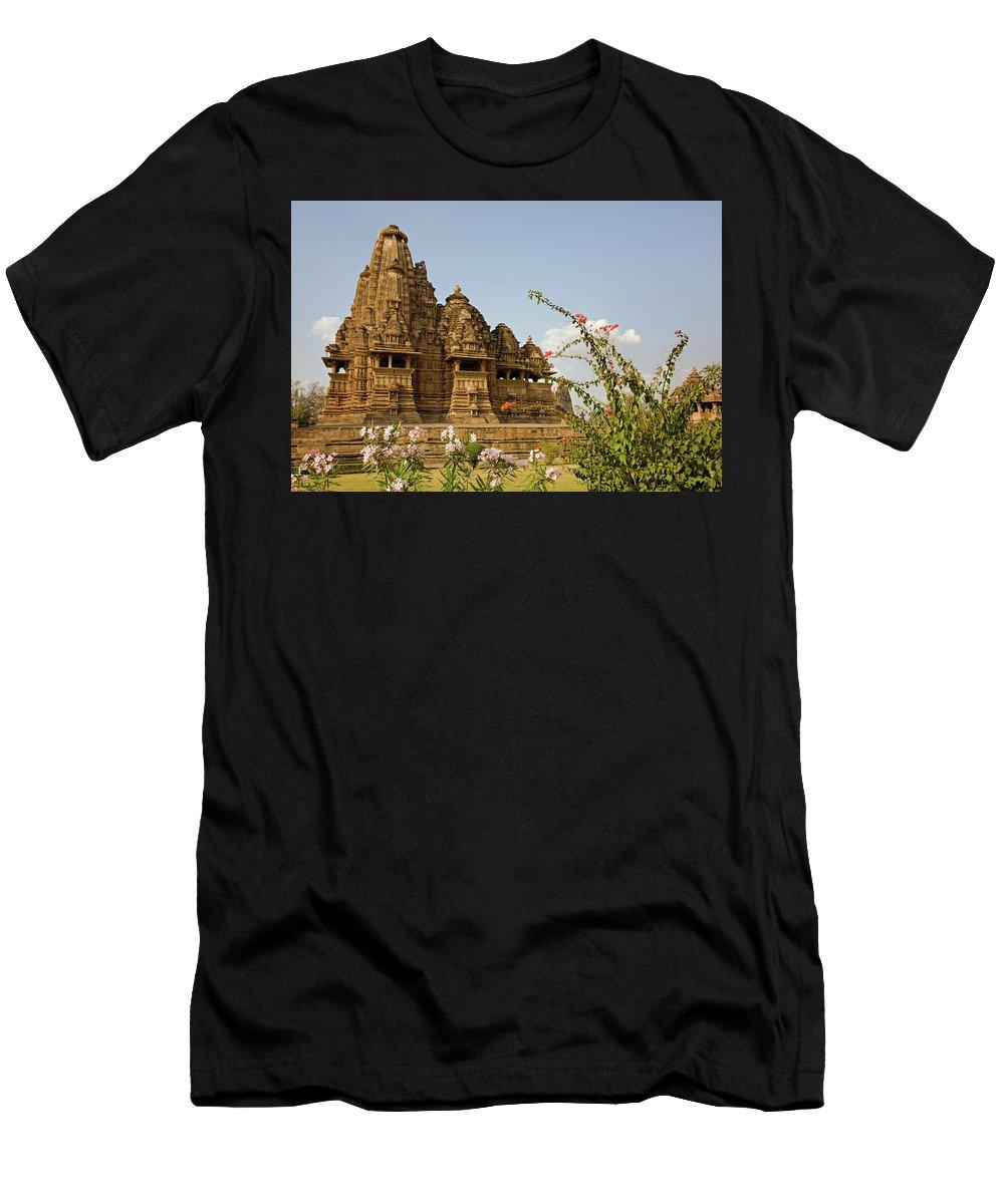 Vishvanatha Temple Men's T-Shirt (Athletic Fit) featuring the photograph Vishvanatha Temple In Khajuraho by Aivar Mikko
