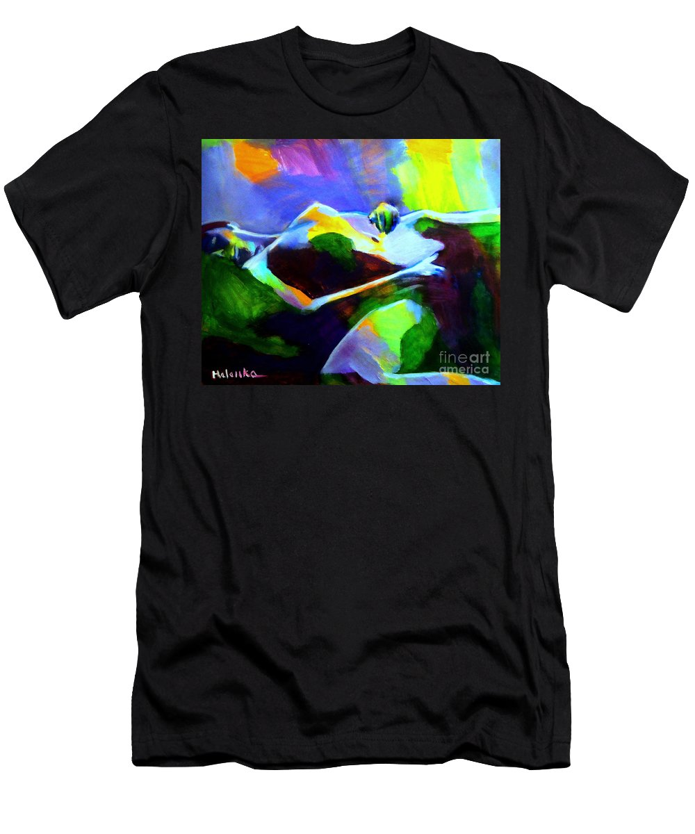 Affordable Original Art Men's T-Shirt (Athletic Fit) featuring the painting Warm Body by Helena Wierzbicki