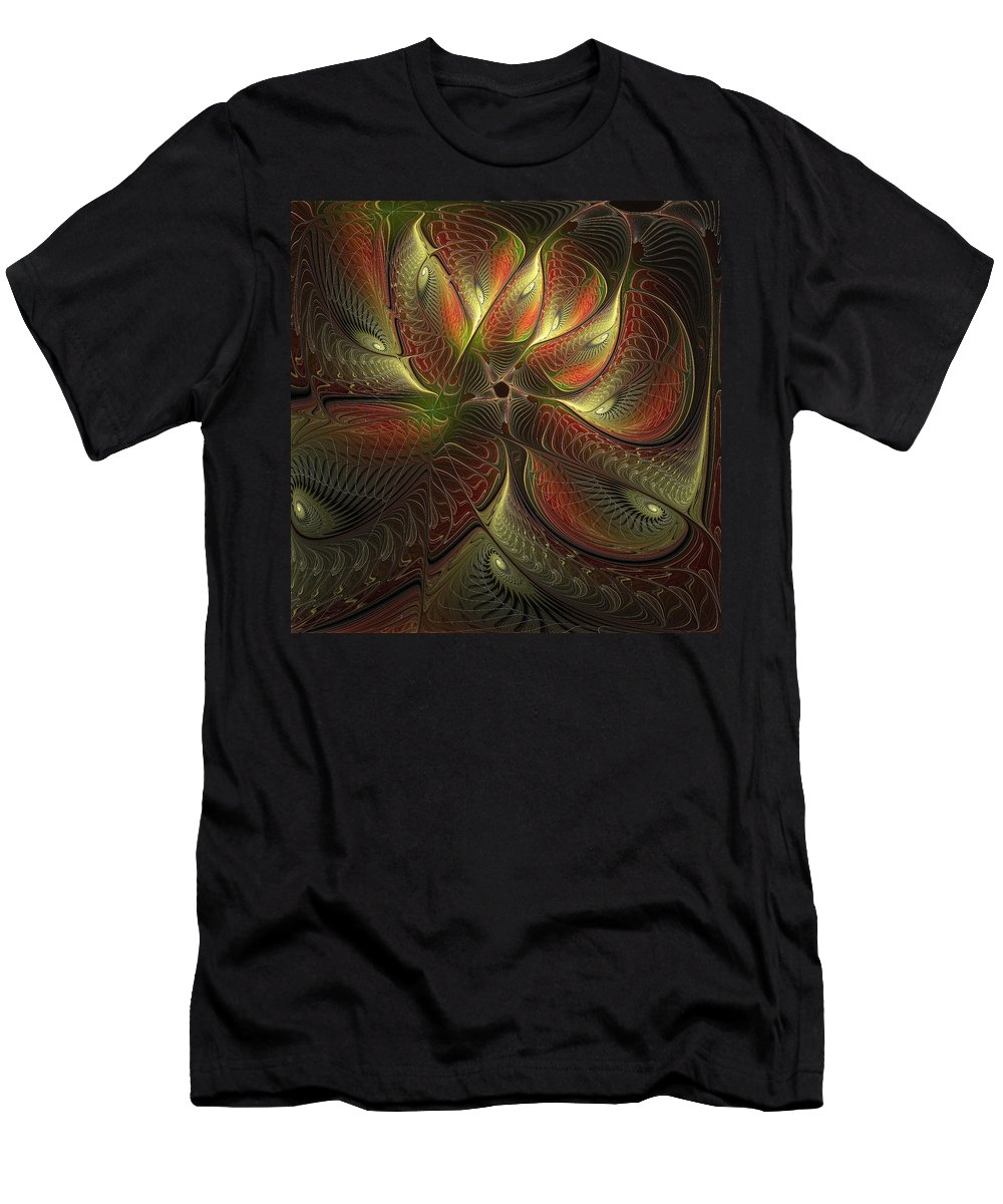 Digital Art Men's T-Shirt (Athletic Fit) featuring the digital art Watchful by Amanda Moore