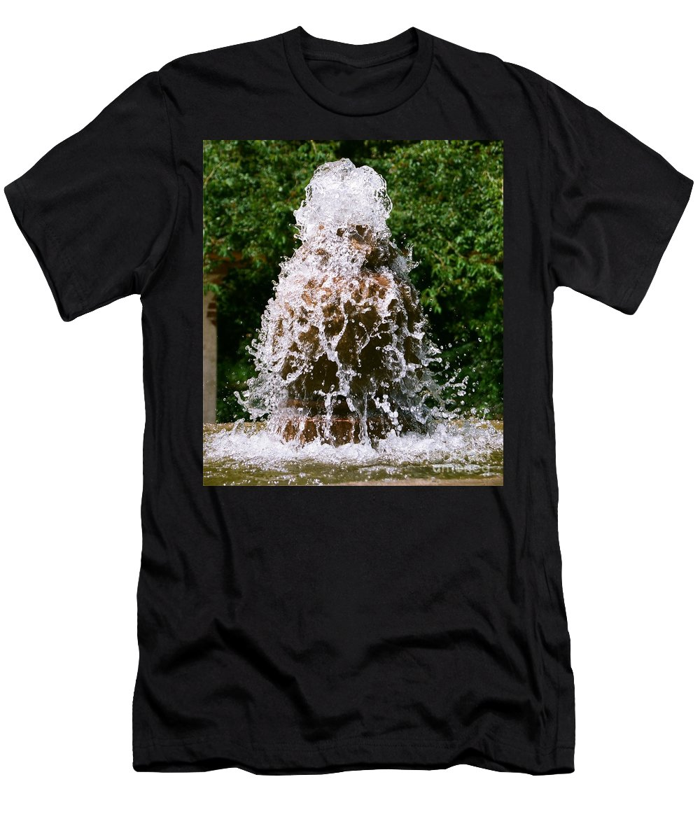 Water Men's T-Shirt (Athletic Fit) featuring the photograph Water Fountain by Dean Triolo