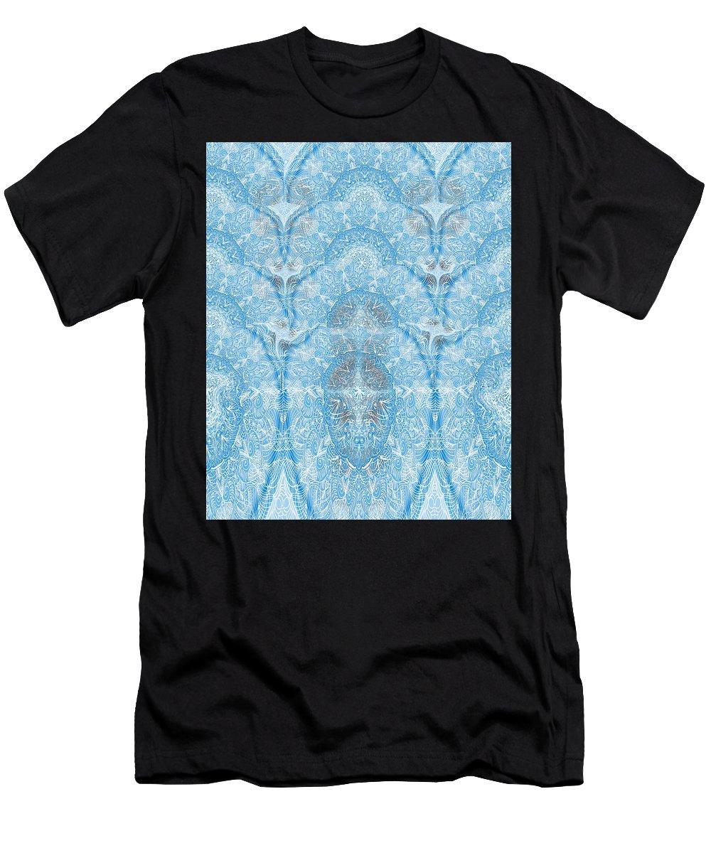 Floral Men's T-Shirt (Athletic Fit) featuring the digital art Wave 3d Effect by Sandrine Kespi