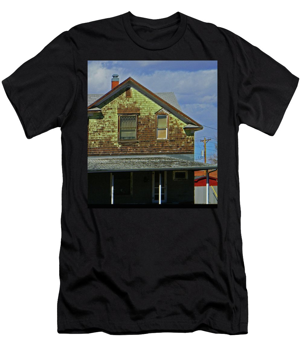 Abstract Men's T-Shirt (Athletic Fit) featuring the photograph Weather by Lenore Senior