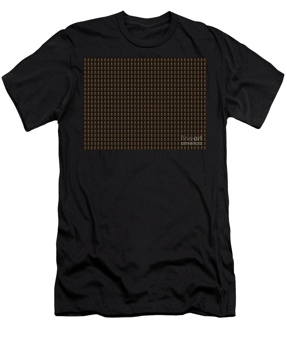 Gold Men's T-Shirt (Athletic Fit) featuring the photograph Whisky Bottle Cap Pattern Navinjoshi Creation At Fineartamerica.com Ideal For Wall Decorations Thro by Navin Joshi