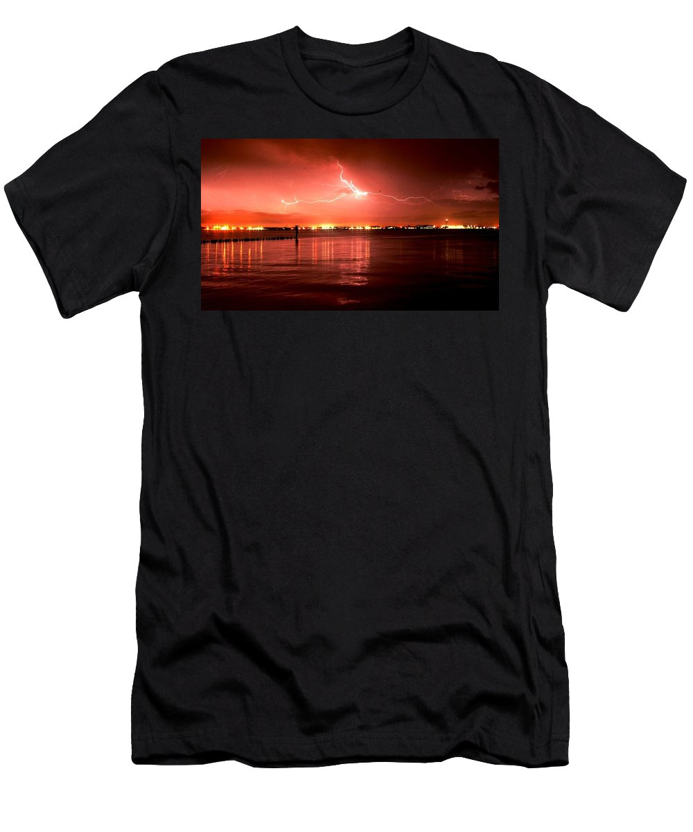 Landscape Men's T-Shirt (Athletic Fit) featuring the photograph White Lightning by John C Bell