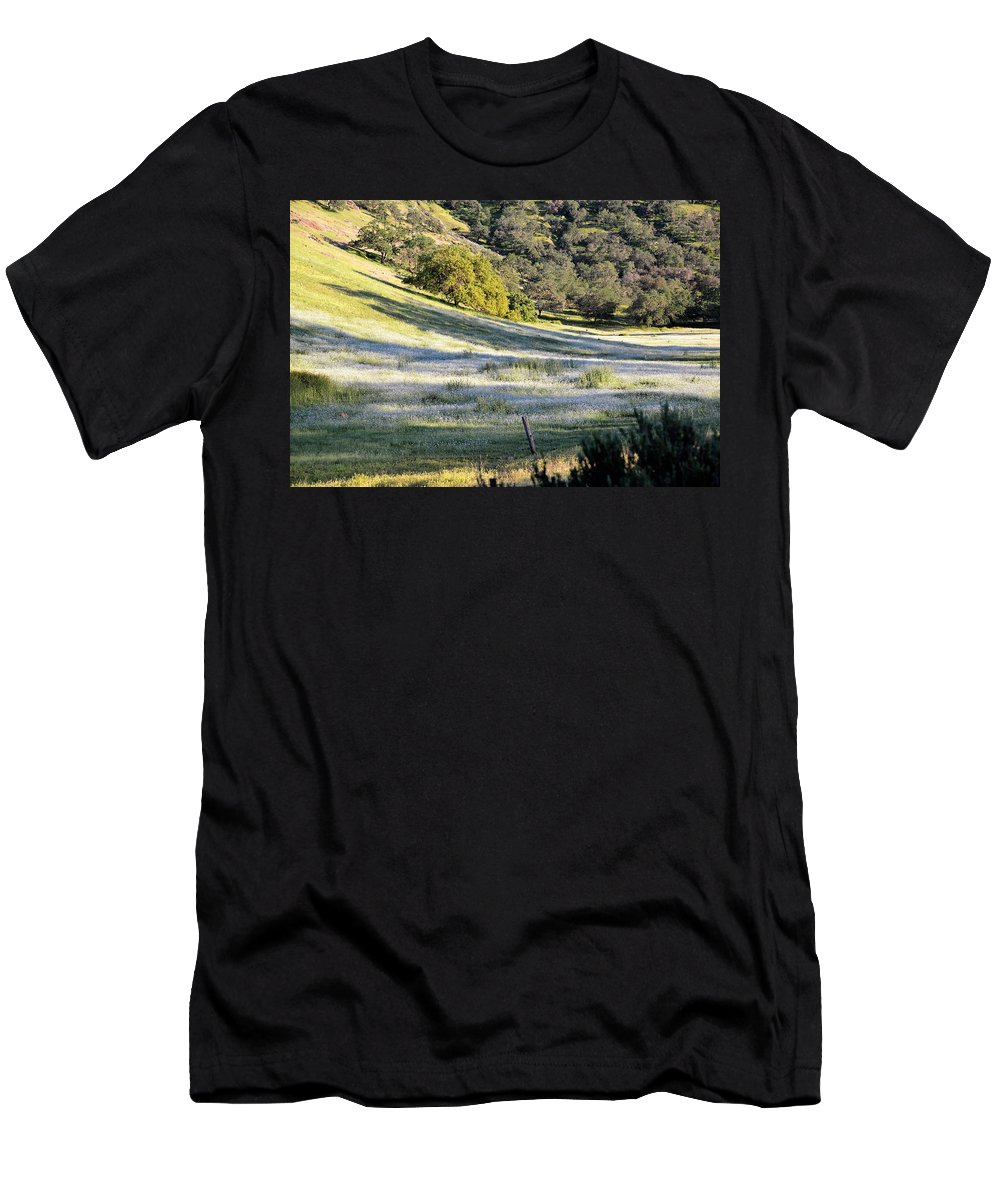 Flowers Men's T-Shirt (Athletic Fit) featuring the photograph White by Michael Brown