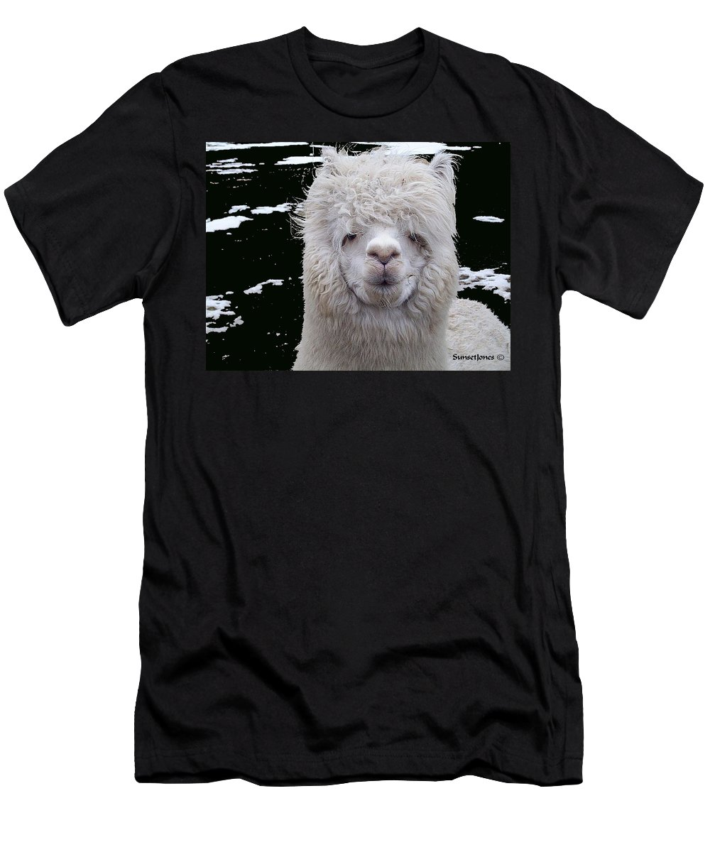 Alpaca Men's T-Shirt (Athletic Fit) featuring the digital art Wild Life by Robert Orinski