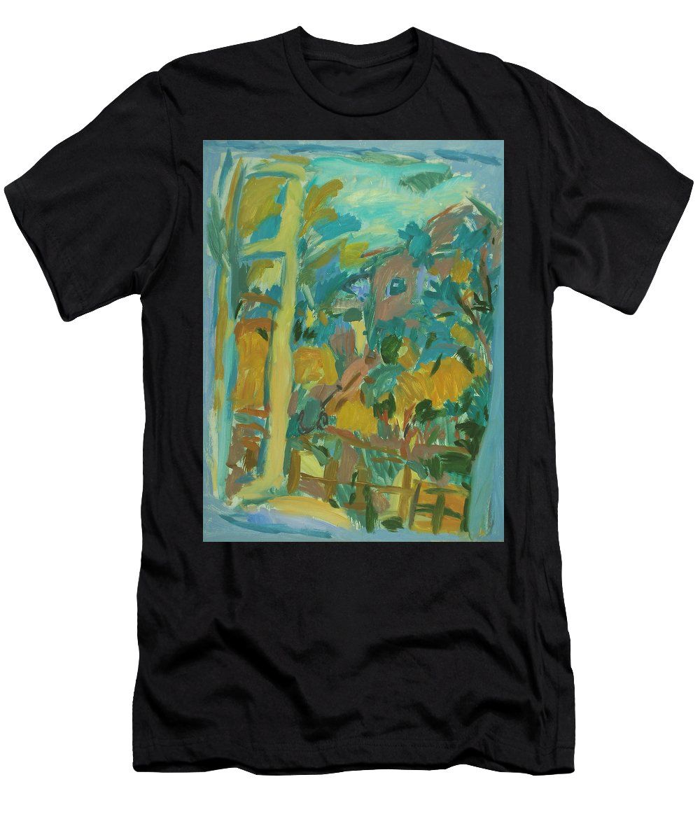 Park Men's T-Shirt (Athletic Fit) featuring the painting Window by Robert Nizamov