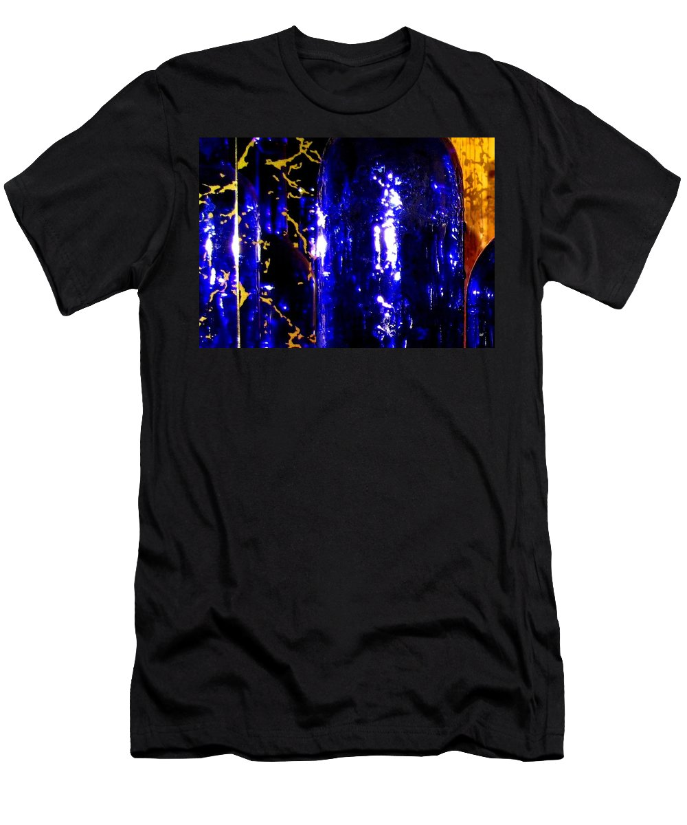 Wine Bottles Men's T-Shirt (Athletic Fit) featuring the digital art Wine Bottles 1 by Will Borden