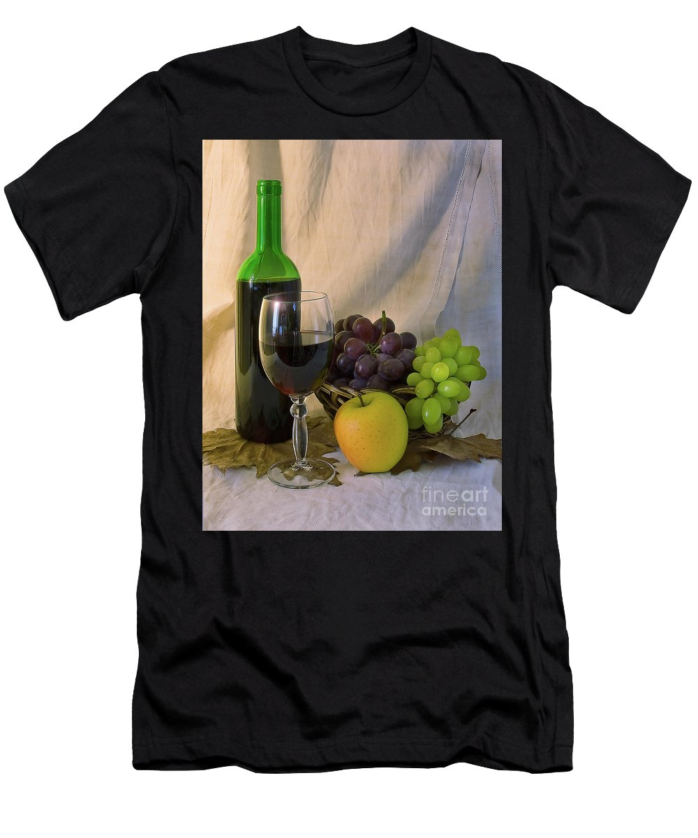Fruit Men's T-Shirt (Athletic Fit) featuring the photograph Wine by Nataly Raikhel