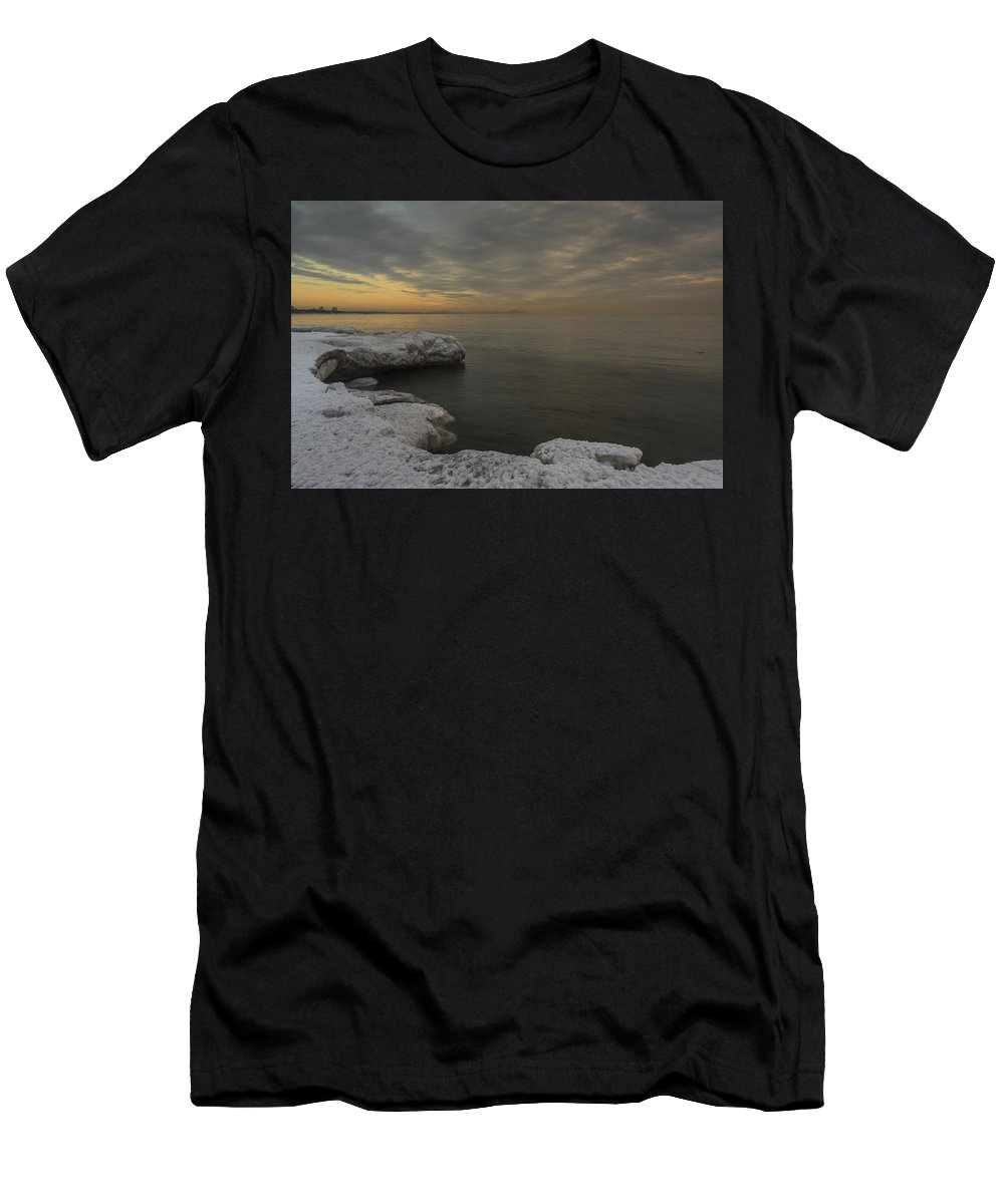 Canada Men's T-Shirt (Athletic Fit) featuring the photograph Winter Morning by David Hook