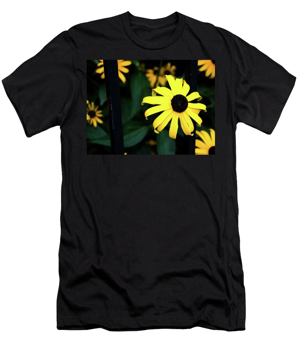 Yellow Flower Men's T-Shirt (Athletic Fit) featuring the photograph Yellow Flower by John Abdelmalak