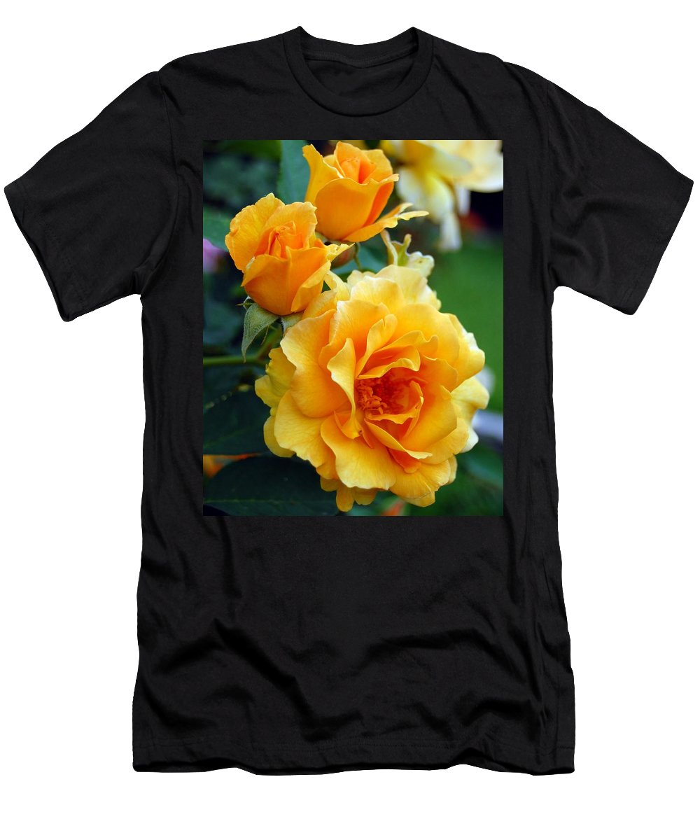Flower Men's T-Shirt (Athletic Fit) featuring the photograph Yellow Roses by Amy Fose