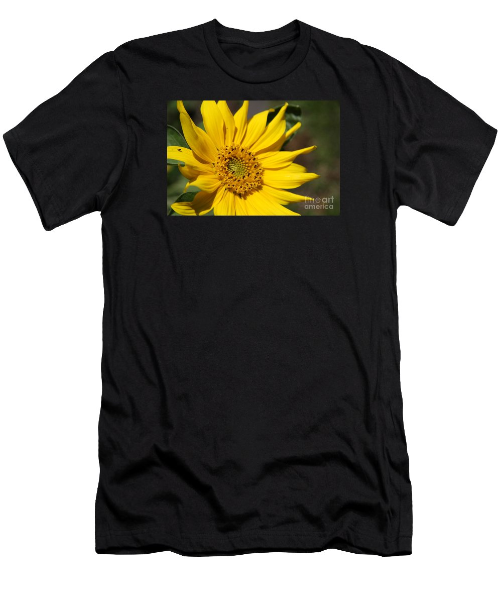 Sunflower Men's T-Shirt (Athletic Fit) featuring the photograph Yellow Sunflower by Christiane Schulze Art And Photography