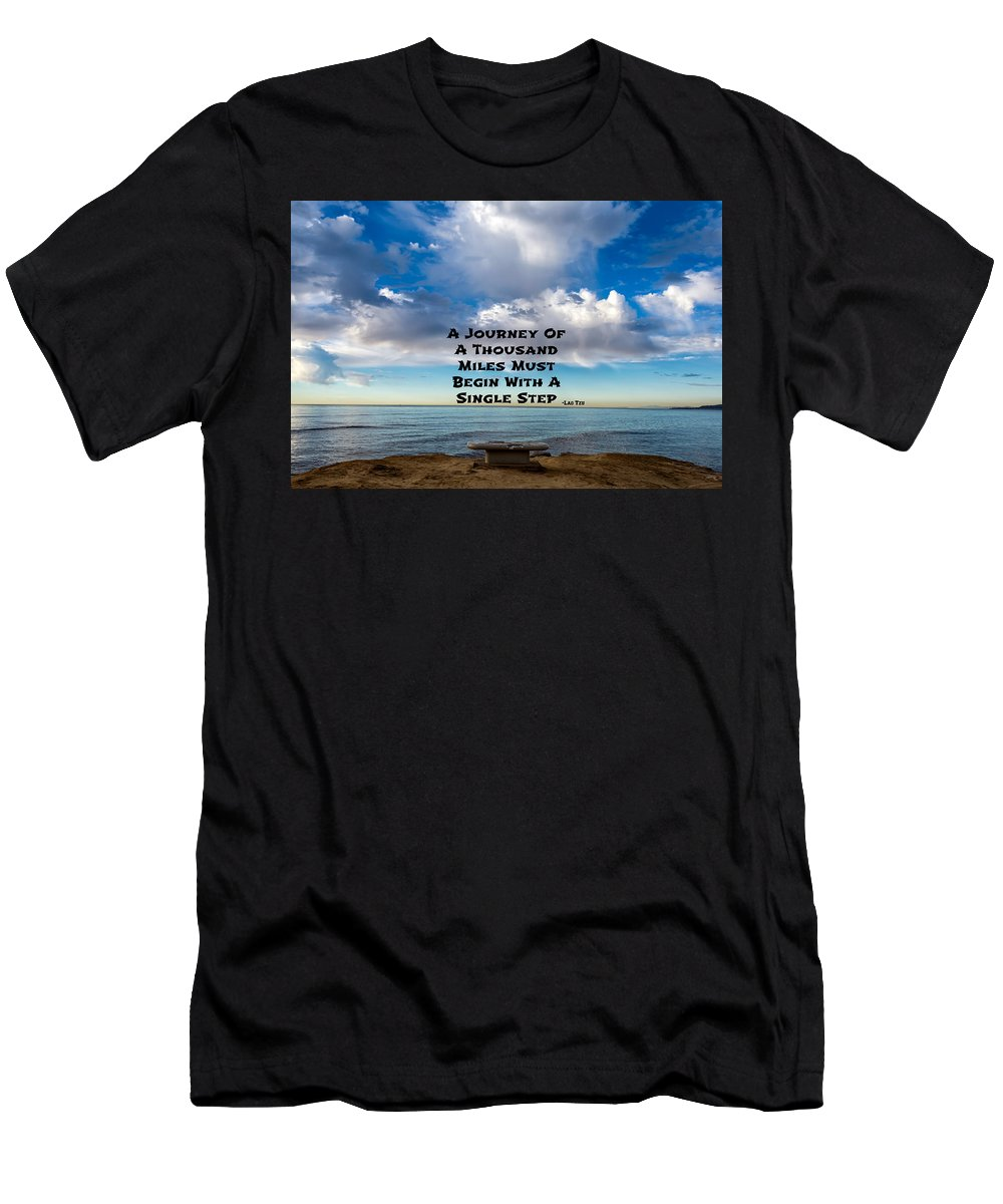 Lao Tzu Men's T-Shirt (Athletic Fit) featuring the photograph Lao Tzu Quote by Joseph S Giacalone