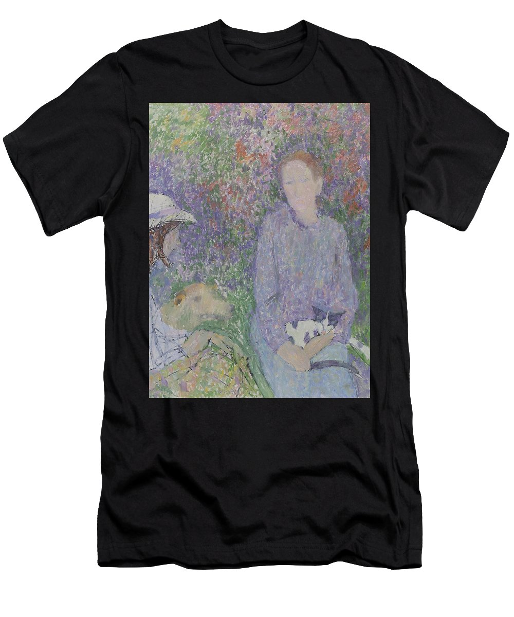 Beauty Men's T-Shirt (Athletic Fit) featuring the painting Portrait by Robert Nizamov