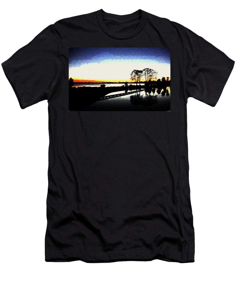 Reflection Men's T-Shirt (Athletic Fit) featuring the digital art Reflection by Lora Battle